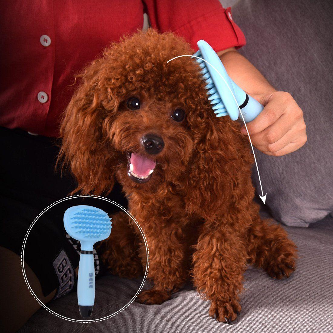 Pet Dog Bath Massage Brush Professional Dog Grooming Comb Removes Tangledloose Long Short Hairpet Grooming Shedding Massag Grooming Dog Grooming Grooming Comb