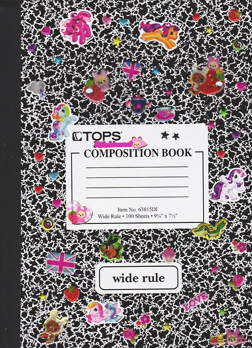 ♡ decorating composition notebooks for school with stickers ...