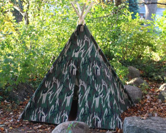 sports shoes 4cf8c 71719 Camouflage Teepee, Poles Included, Hideout Wigwam Tepee Tipi ...