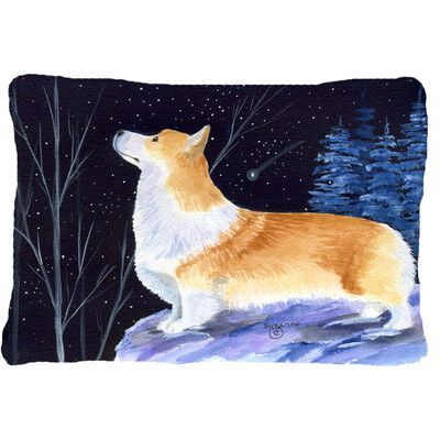 Caroline's Treasures Starry Night Corgi Indoor/Outdoor Throw Pillow