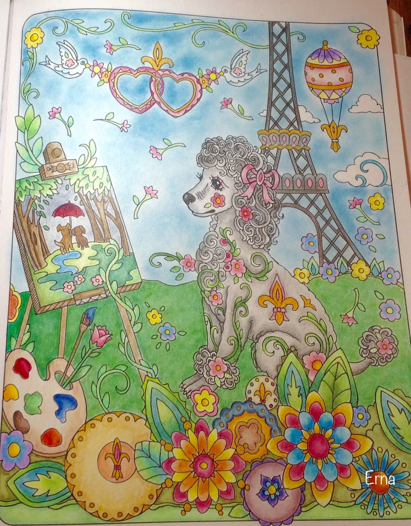 Fifi Is Done Dazzling Dogs Coloring Book Dog Coloring Page Dog