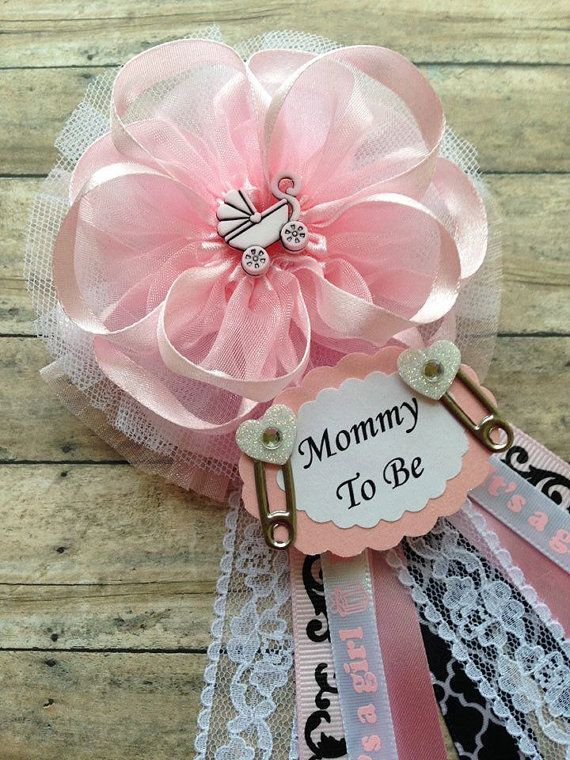 Pink Carriage Mommy To Be Corsage Its A Girl Baby Shower Corsage