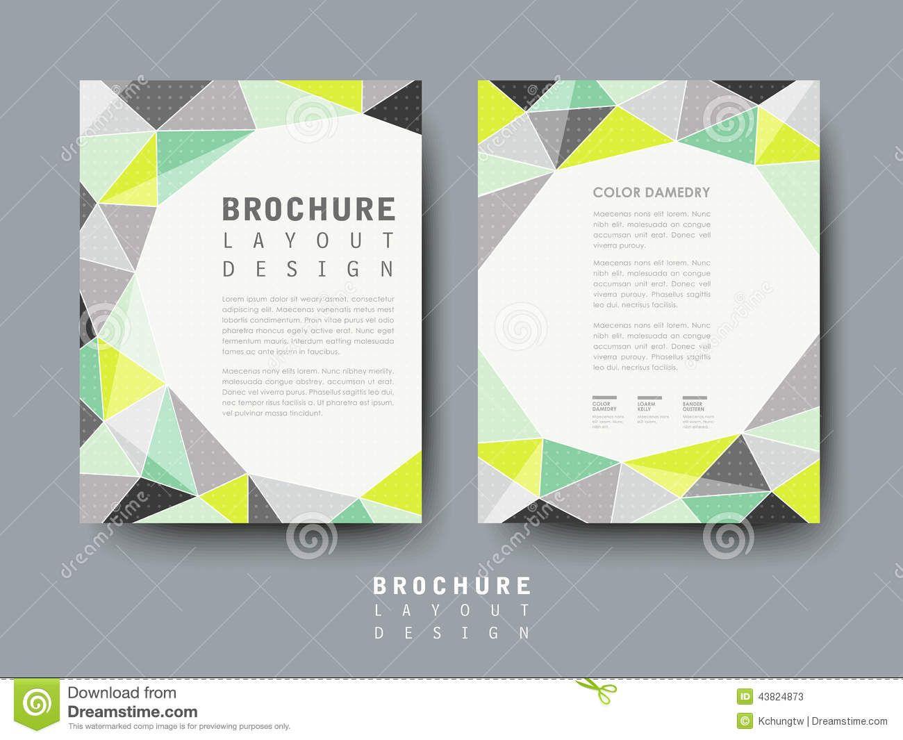 Geometric Brochure Template  Pesquisa Google  Cards