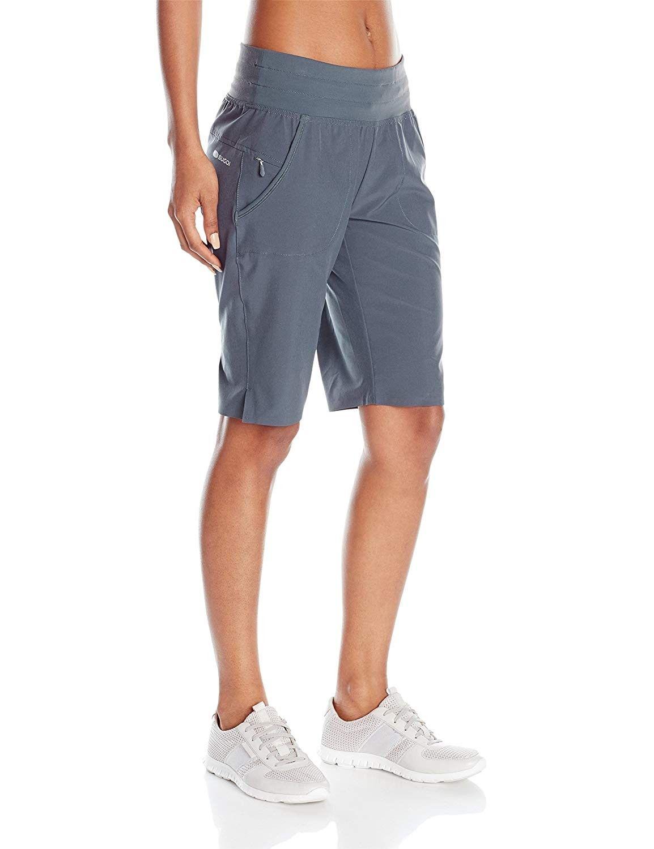 Women S Ignite Bermuda Shorts Coal Blue Cd12dee3unj Size Medium Sports Shorts Women Workout Pants Women Women S Plus Size Shorts