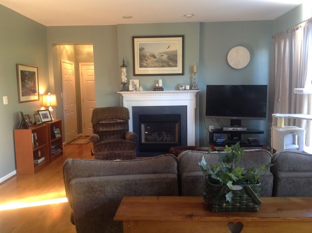 My Family Room Using Benjamin Moore S Castle Walls We Carried This Same Color Throughout
