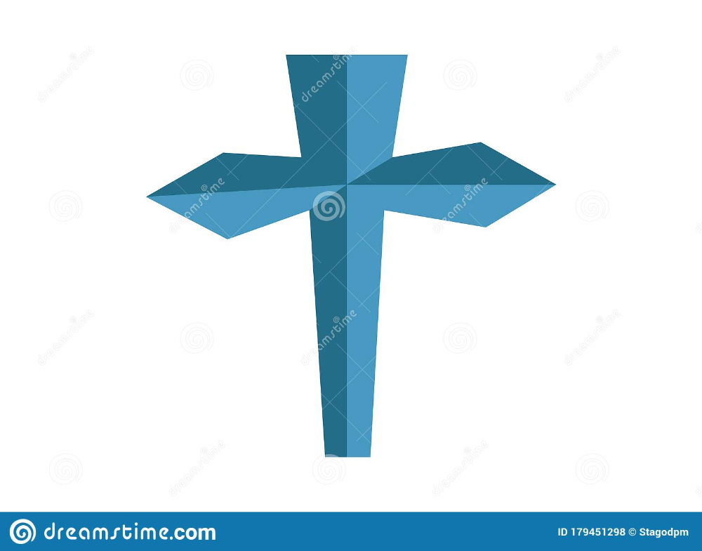 Blue Cross Icon On A White Background Stock Illustration Illustration Of Head Ornate 179451298 Blue Cross White Background Illustration