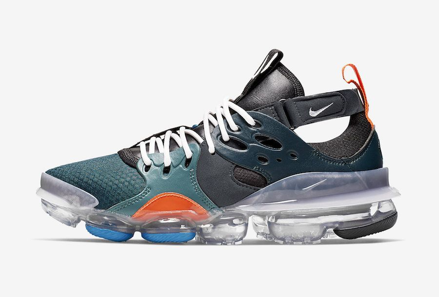 2018 Off White Nike Air VaporMax Sandals Minnight Blue White
