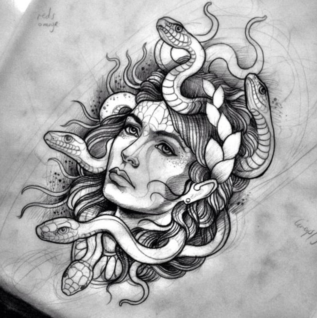 Tattoo Ideas To Draw: Medusa Tattoo, Tattoos
