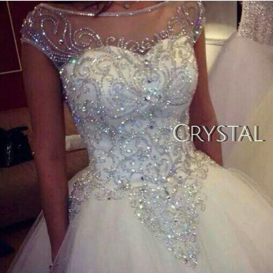 Ball Gown Wedding Dresses 2015 New Gorgeous Dazzling Princess