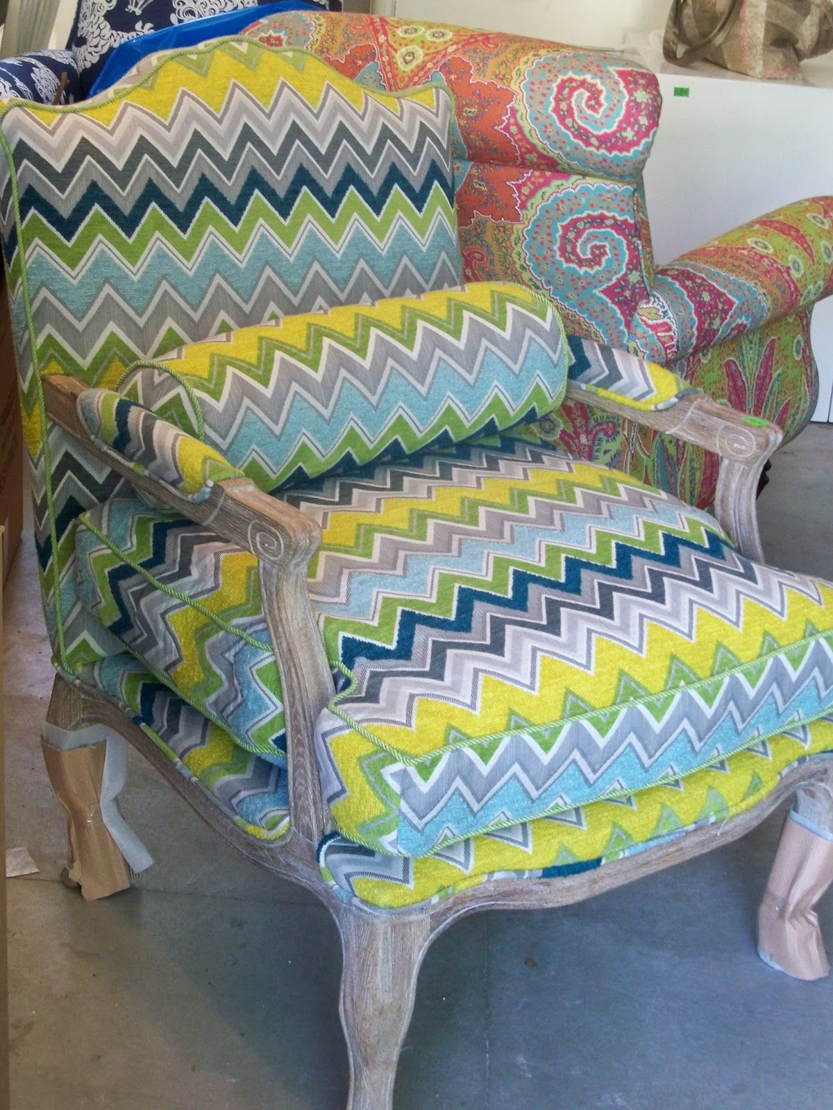 Schumacher Covers The Chairs Heading to Ireland Teal
