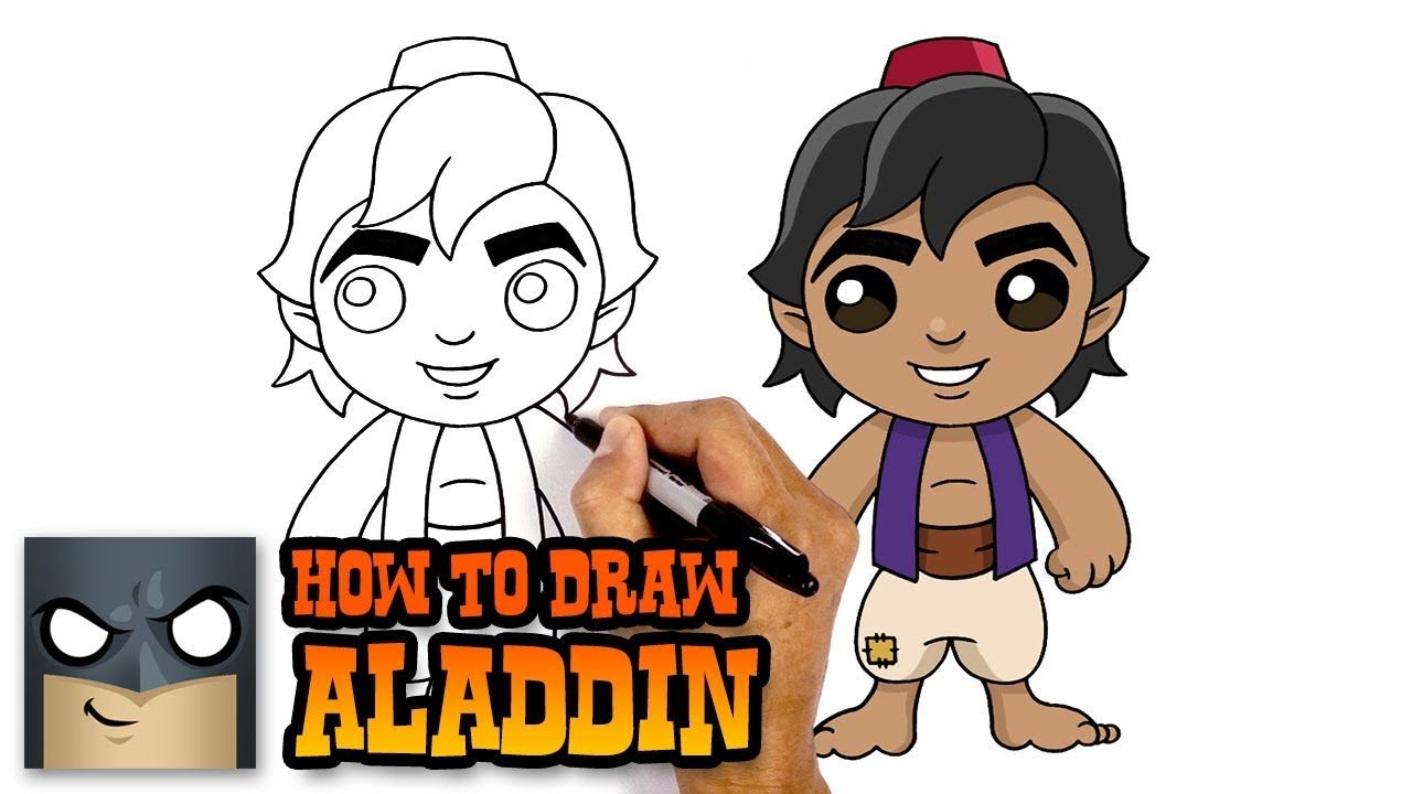 How to Draw Aladdin | Awesome Step-by-Step Tutorial | Easy ...