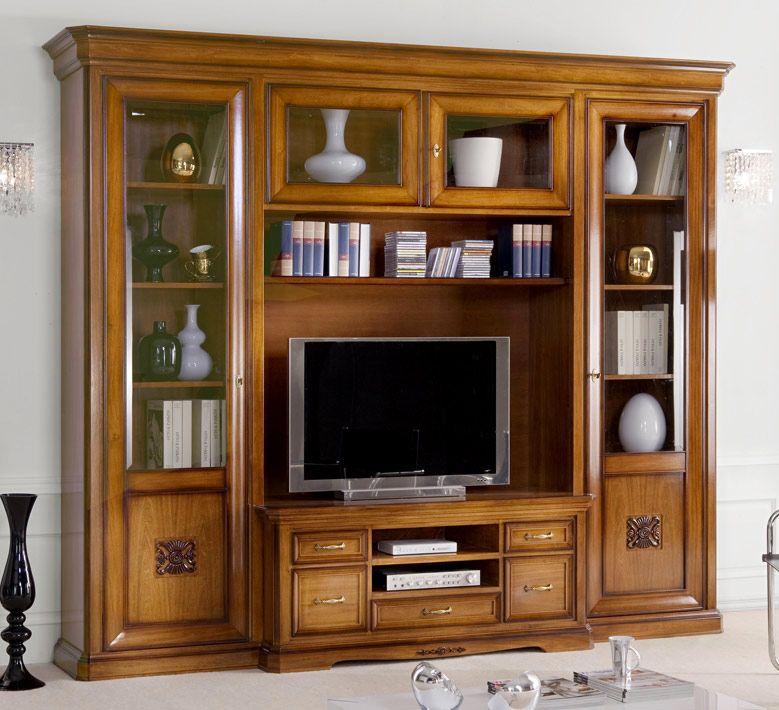Wohnwand 3 M Breit Für Wohnzimmer: Klassisch, Elegant Und Raffiniert. Diese  Wohnwand Ist Das Resultat Der Arbeit Von Spezialisierten Venetischen  Handwerke.