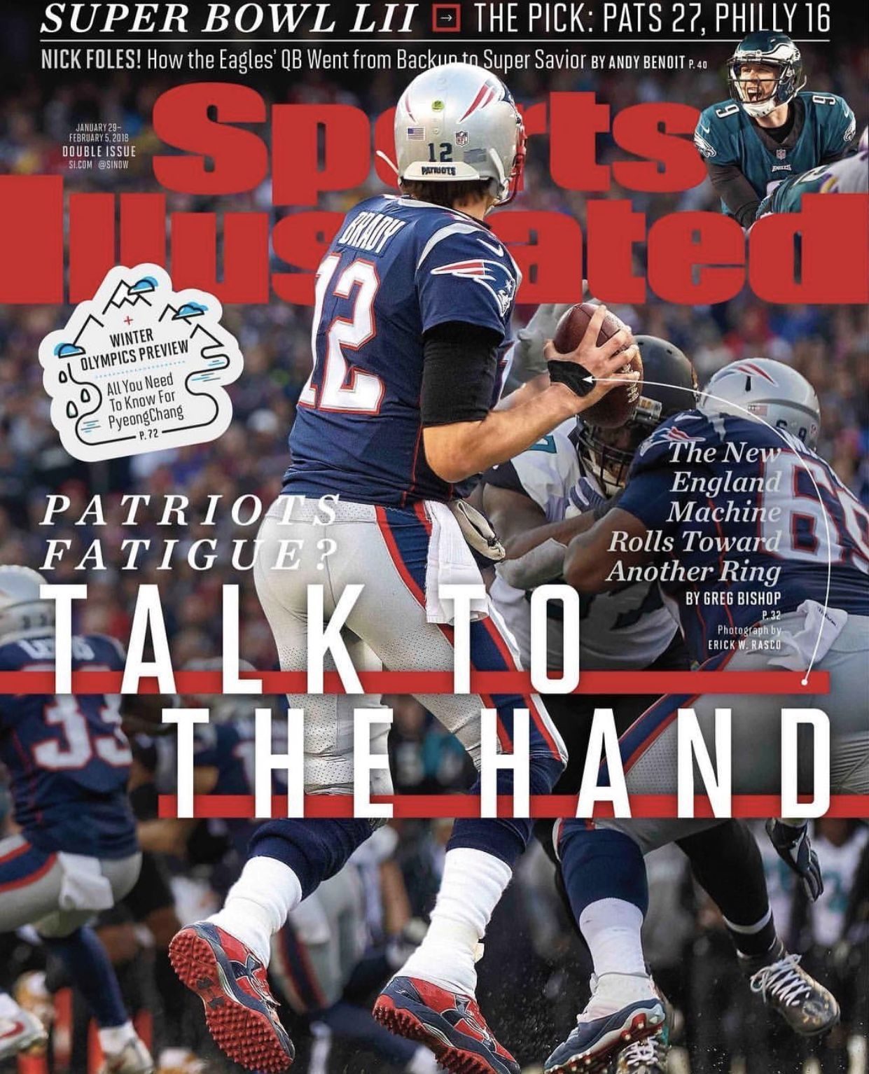Tb12 Sicover Talktothehand Goat Notdone Sblii New England Patriots Sports Illustrated Nfl News
