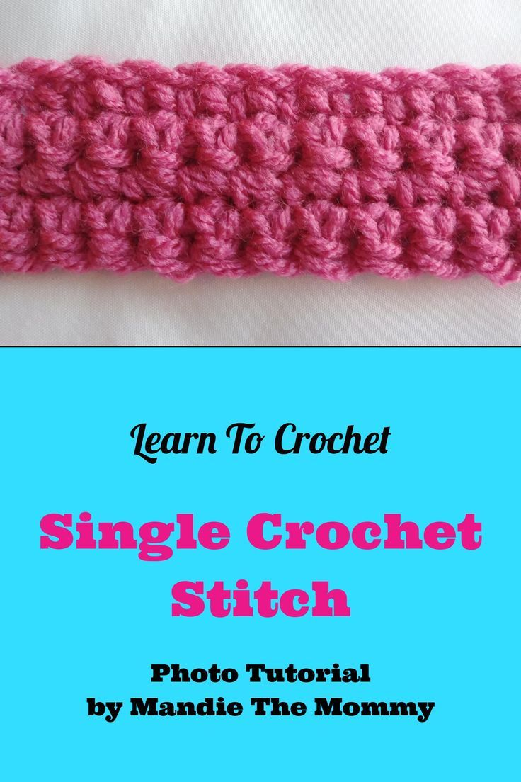 Learn to crochet the single crochet stitch with this step by step ...