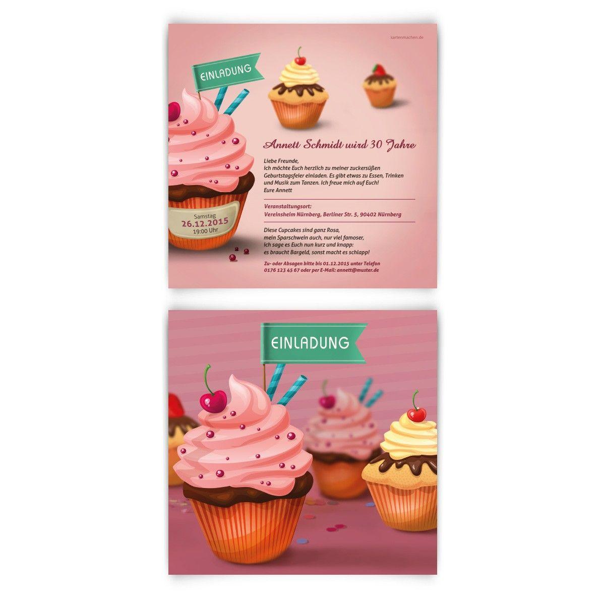 geburtstagseinladungen cupcake geburtstag einladung geburtstagseinladung cupcake birthday. Black Bedroom Furniture Sets. Home Design Ideas