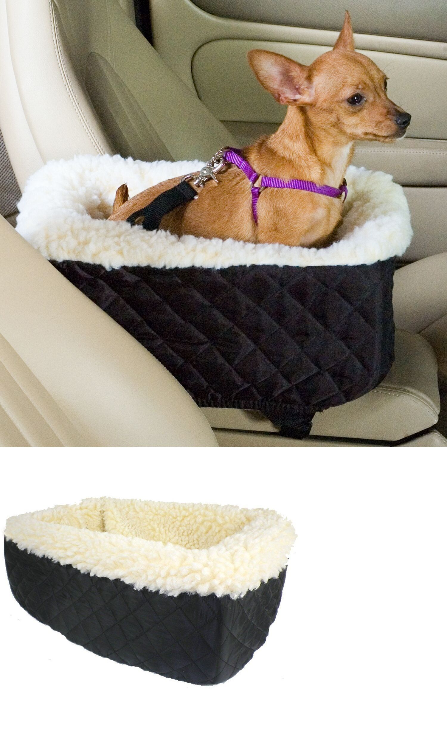 Car Seats And Barriers 46454 Snoozer Lookout Pet Dog Cat Seat Small Black Cream Sherpa Booster Bed BUY IT NOW ONLY 25 On EBay