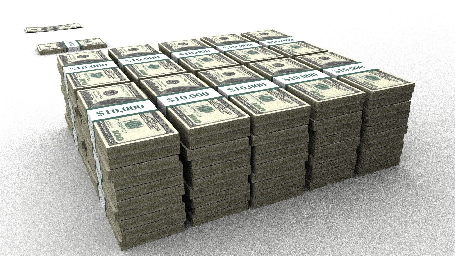 1 Trillion & US Debt in Physical 100 bills The money
