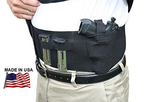 Concealment Belly Band Holster IWB for Right//Left Draw with Magazine Pouch