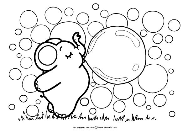 bubble coloring pages bubblegum or bubble worksheets | Bubbles – Weekly free printable  bubble coloring pages