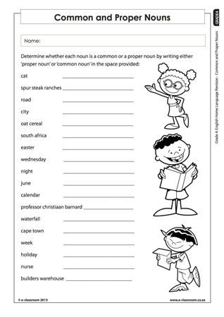 common and proper nouns worksheets for grade 1 google search projects to try nouns. Black Bedroom Furniture Sets. Home Design Ideas