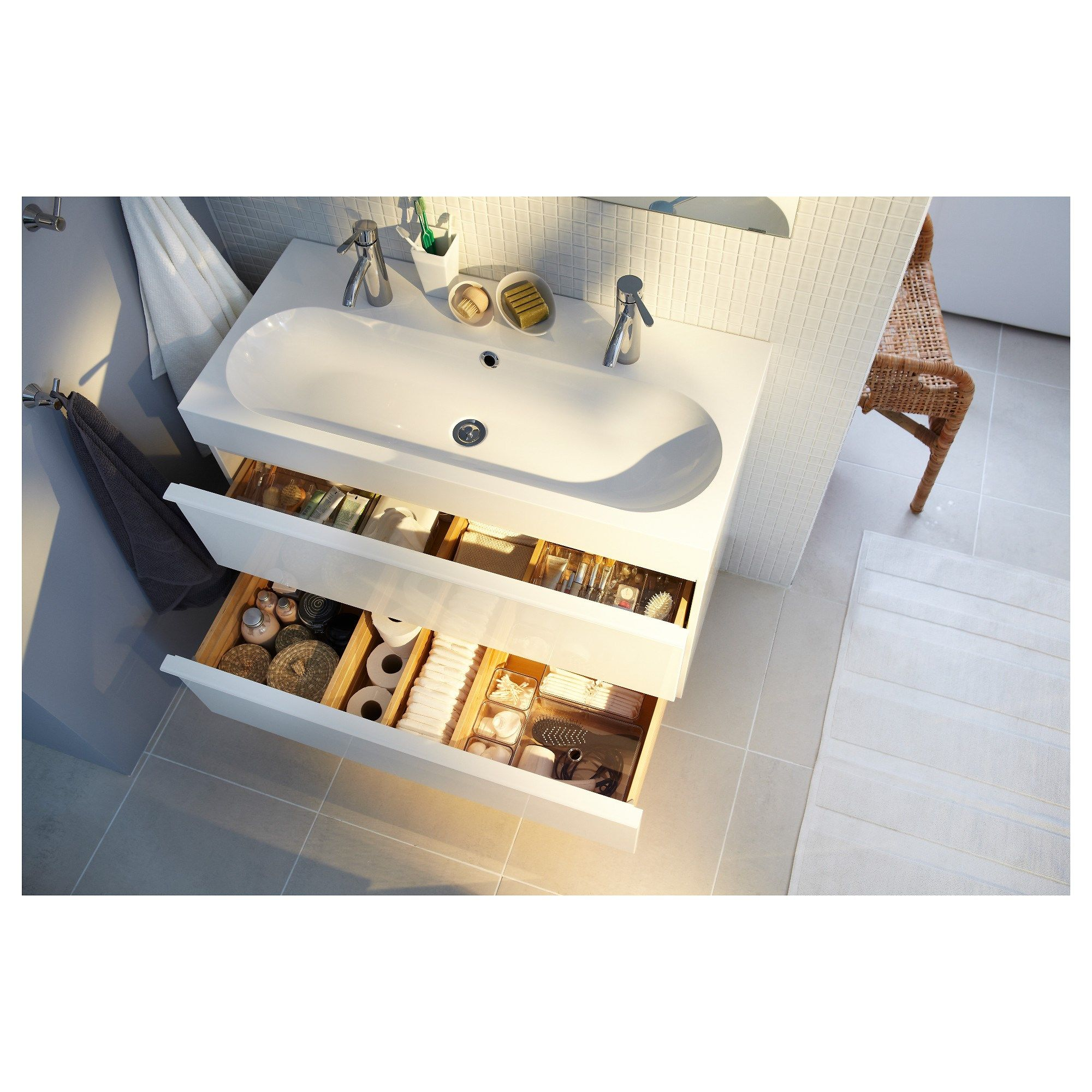 lavabo dolab parlak beyaz xx cm ikea trkiye