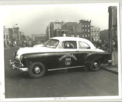 Early 1950 S Chevrolet With Jersey City Police Police Cars Old Police Cars Police