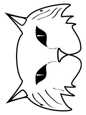 Masks coloring page 16 | Animal masks, Art activities for ...