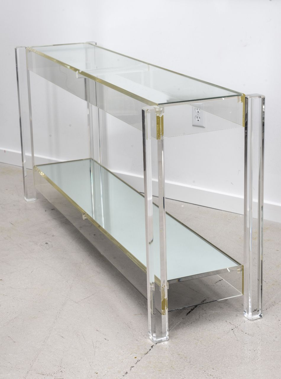 Vintage Lucite Console Table Image 4 Acrylic Coffee Table Coffee Table Console Table