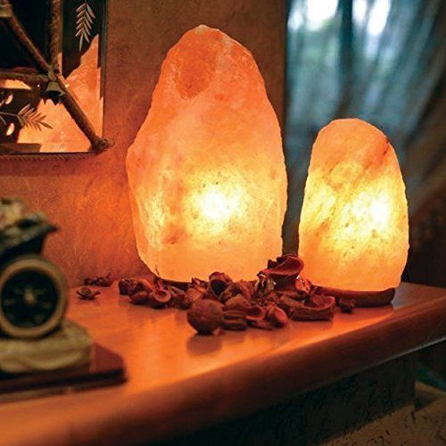 Salt Rock Lamp Walmart Alluring Handmade Natural Himalayan Salt Lamp Shiny Wooden Base 2 Bulbs 6 Inspiration Design