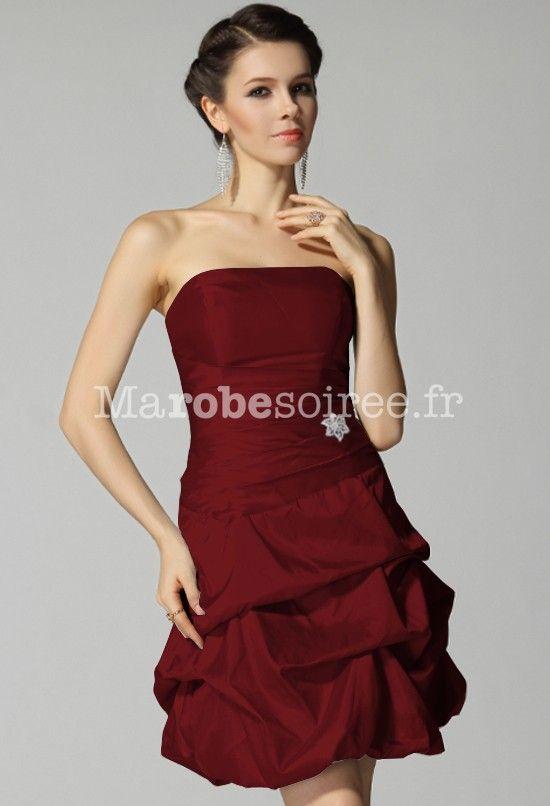 Robe mariee rouge bordeaux