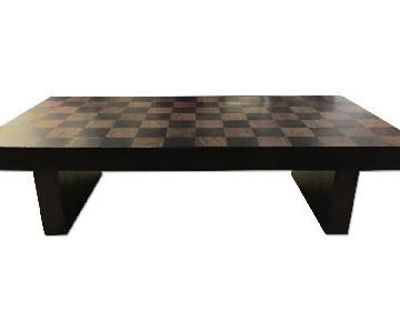 Crate Barrel Checkerboard Coffee Table Table Coffee Table