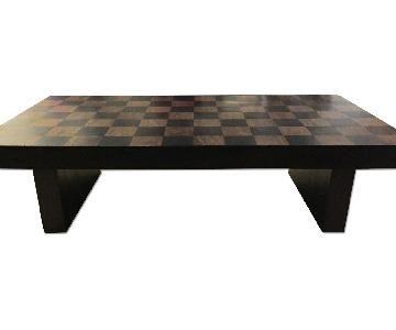 Beau Crate U0026 Barrel Checkerboard Coffee Table