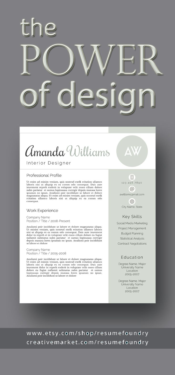 Resume Template 5 out of 5 stars ***** This is a gorgeous, easy-to ...