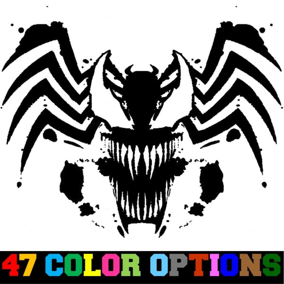 Decal Vinyl Sticker Car Truck Window Marvel Spider Man Villian Tribal Venom Marvel Drawings Marvel Tattoos Spiderman Tattoo [ 1125 x 1125 Pixel ]