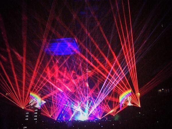 Liam Rudden On Pet Shop Boys Laser Show Music Icon