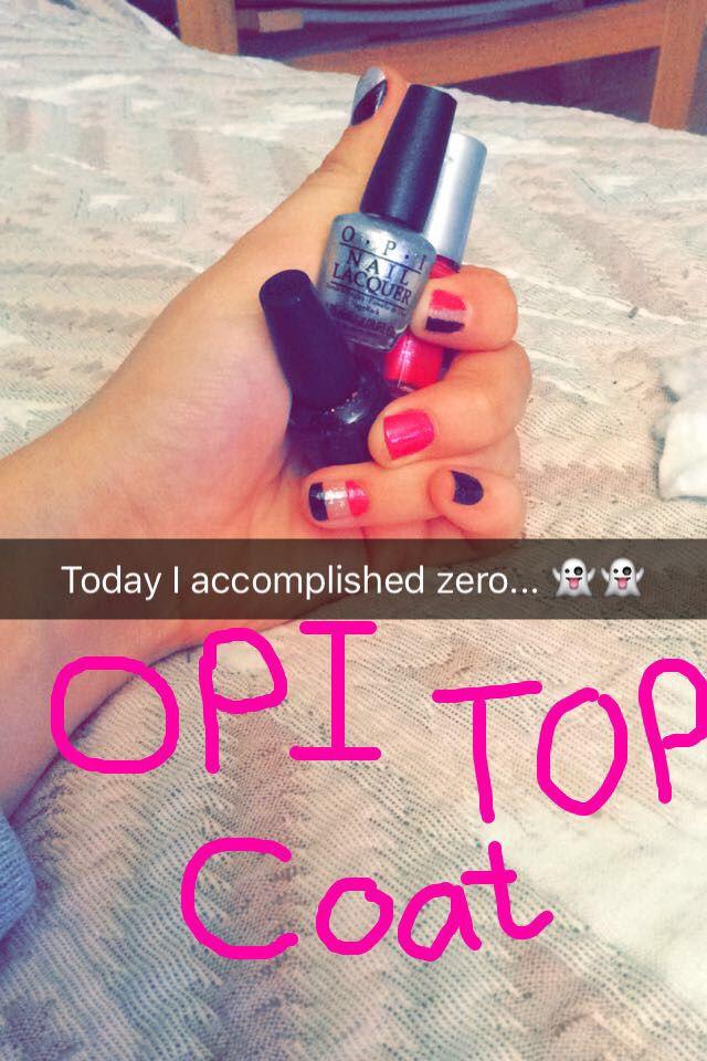 O.P.I top coat❤️