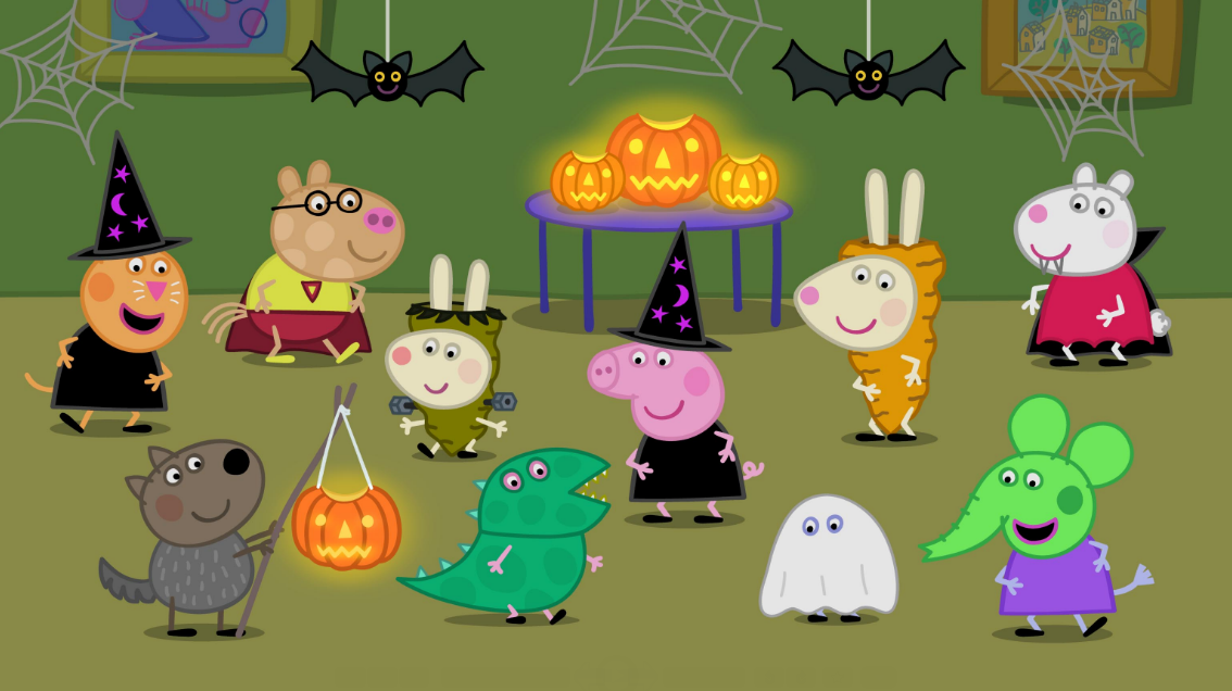 """This October, get ready to celebrate Halloween with Peppa Pig! Brand-new """"peppasodes"""" debut later this month, including the """"Pumpkin Party"""" special. Oink oink!"""