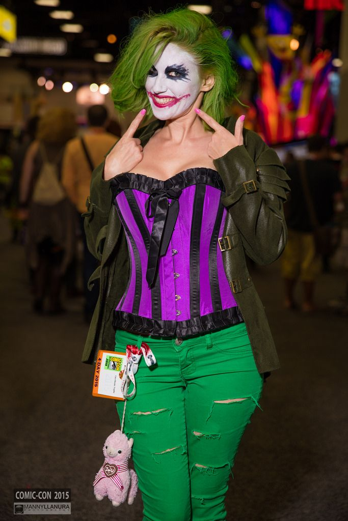 San diego comic con 2015 cosplay halloween disfraz - Disfraz joker casero ...