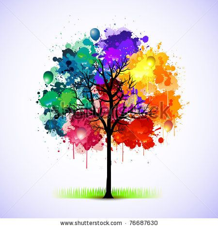 Abstract Colorful Tree Of Life