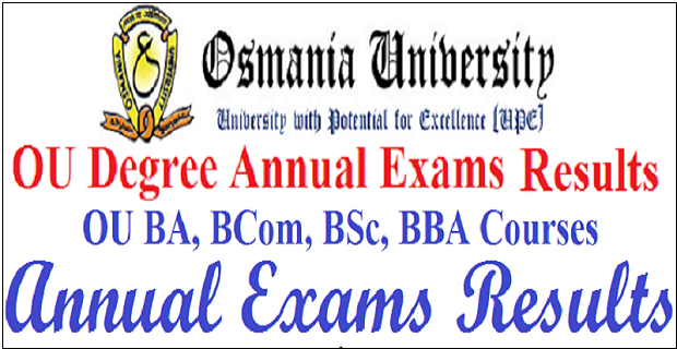 OU Degree Result 2018 Manabadi, www osmania ac in 1st 2nd 3rd Year