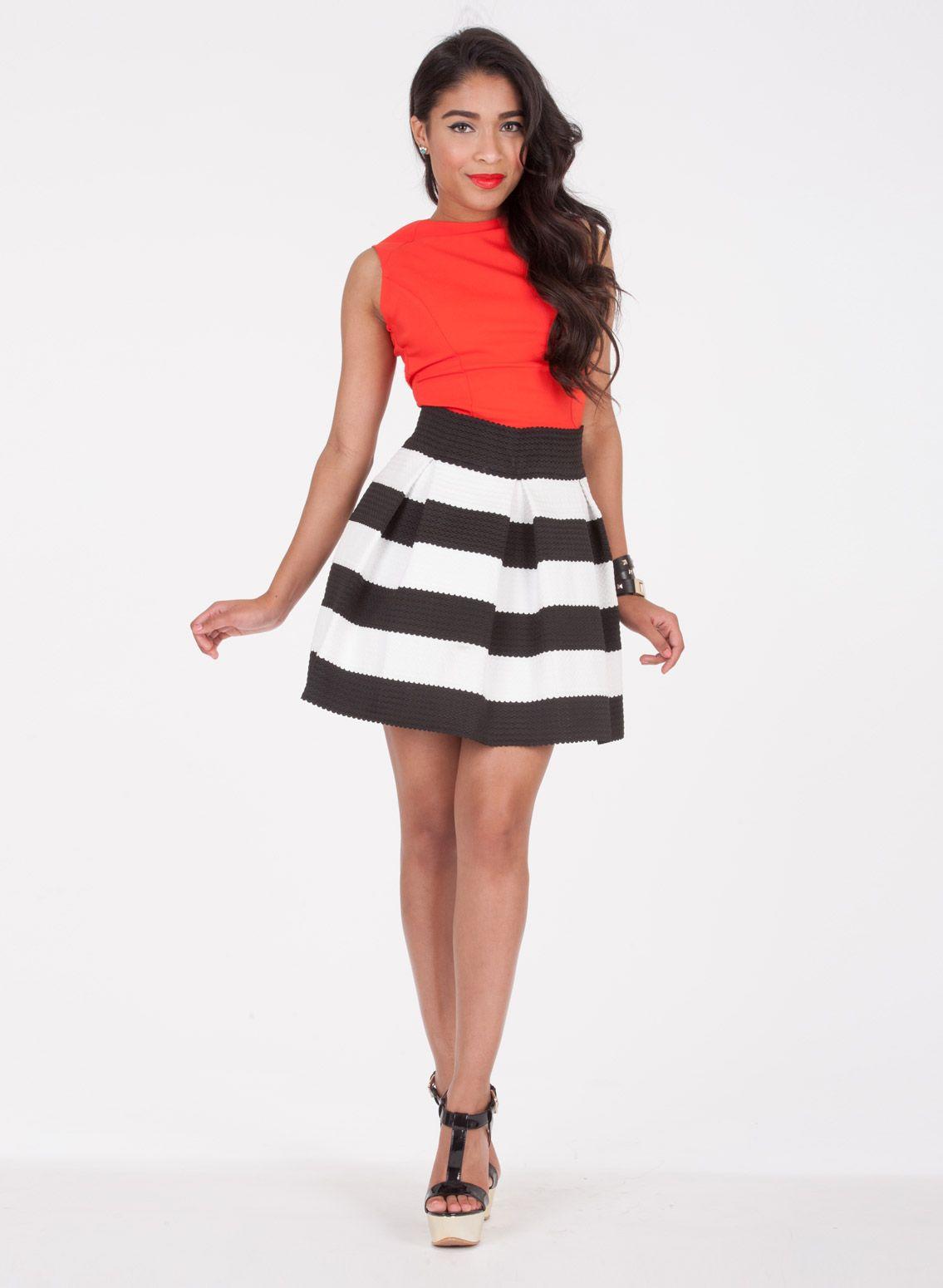 Black And White Skirt | Dress Journal | Black and White Skirt ...