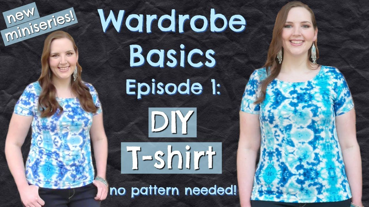 Diy easy tshirt no pattern how to sew clothes
