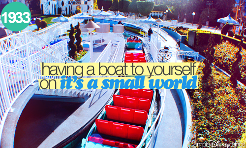 Although small world is not my favorite, it's nice to have a boat to yourself <3