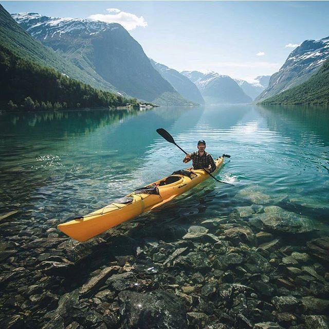 Lovatnet Lake, Norway. Photography by @pangeaproductions #aroundtheworldpix