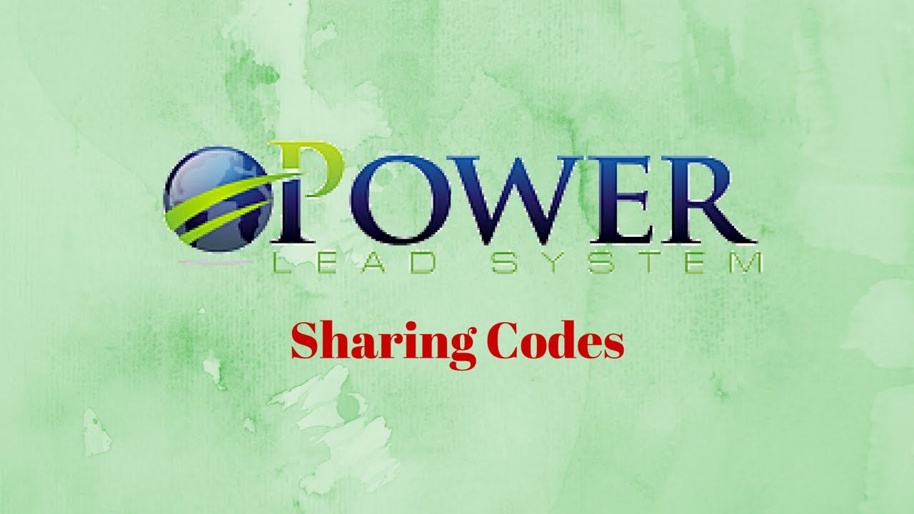 Power Lead System Sharing Codes