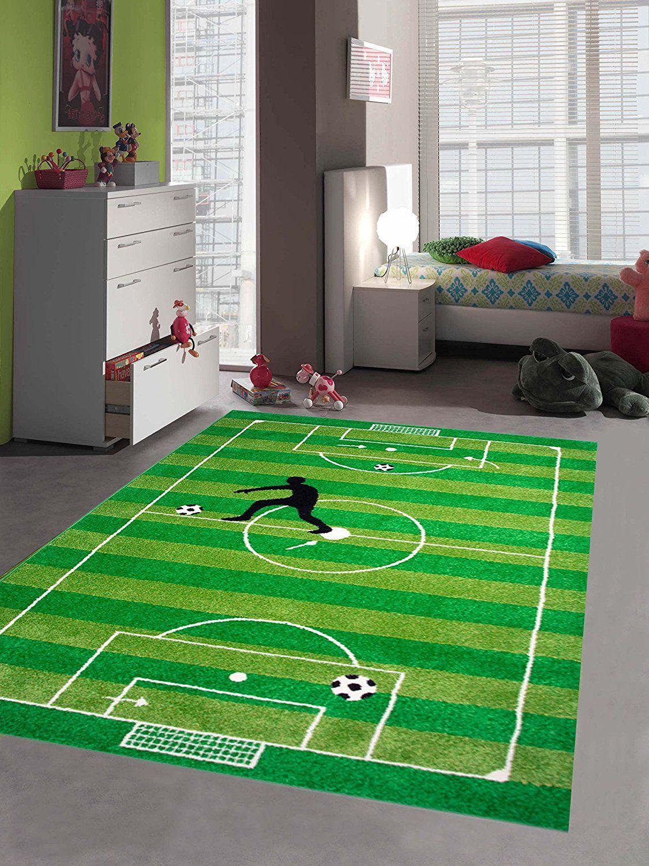 Fußballteppich für das Kinderzimmer. Dieser Spielteppich