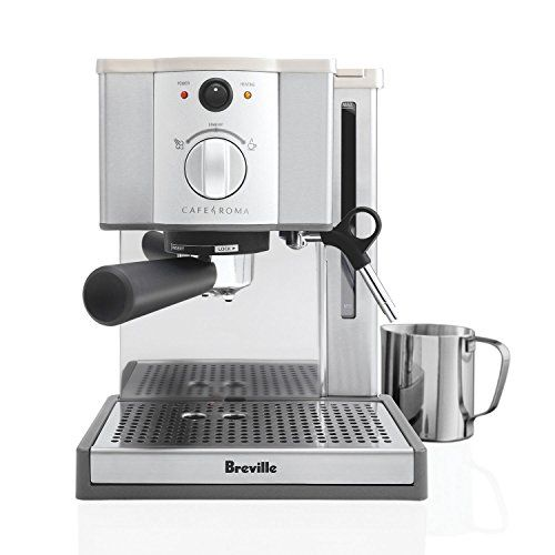Stainless Steel Coffee Machine With 15 Bar Thermoblock Pump Dual Divider Channel Framework For Superb Crema Foam Enhancer Gl Warming Plate Accesories