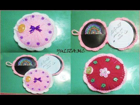 mini cuaderno tejido a crochet con CD y hojas recicladas. - YouTube