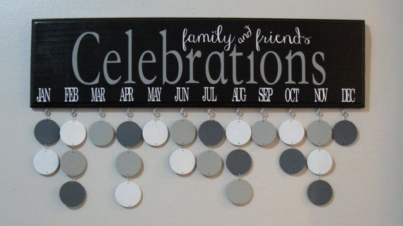 Family & Friends CELEBRATIONS Wood Birthday by JackiesCraftShop, $40.00 Great gift idea for grandparents