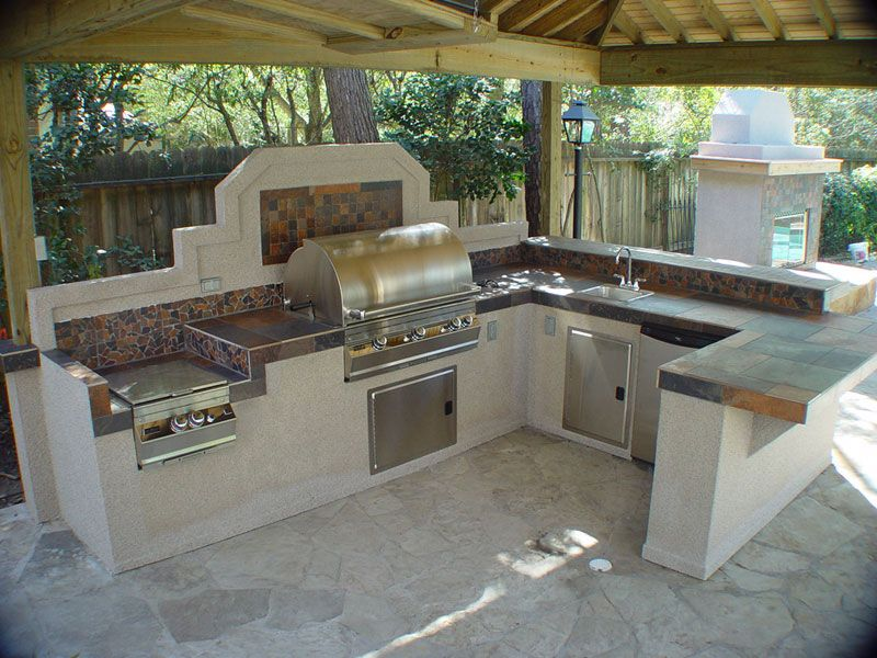Outdoor Kitchens With Patio Covers/Roof Additions